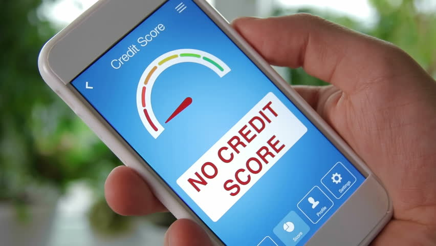 Checking credit score on smartphone using application. The result is NO CREDIT SCORE | Shutterstock HD Video #28551907