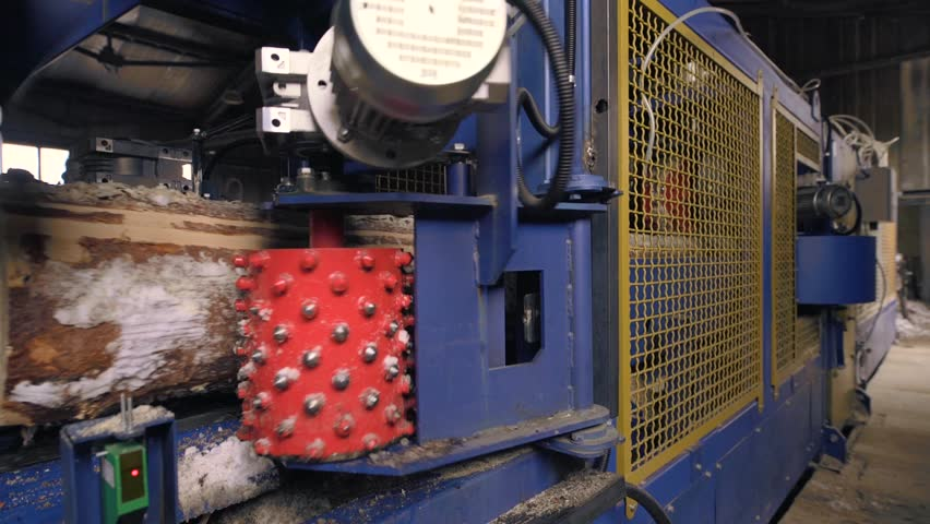 View of cutting machinery at saw mill | Shutterstock HD Video #28584217