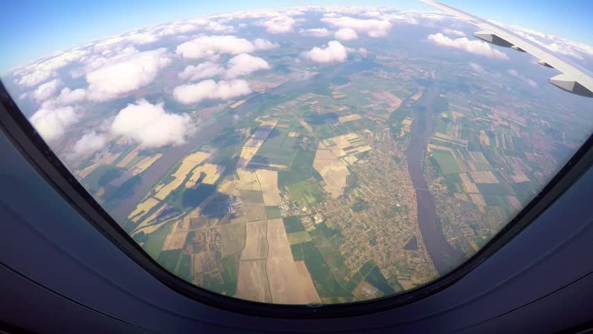 View out of airplane window | Shutterstock HD Video #28588957