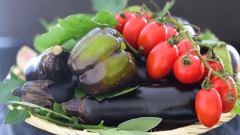 Assorted Fresh Seasonal  Vegetables and Herbs. Ingredients for Vegetarian Stew. Vegan Food, Vegetarian Food, Healthy Food Concept