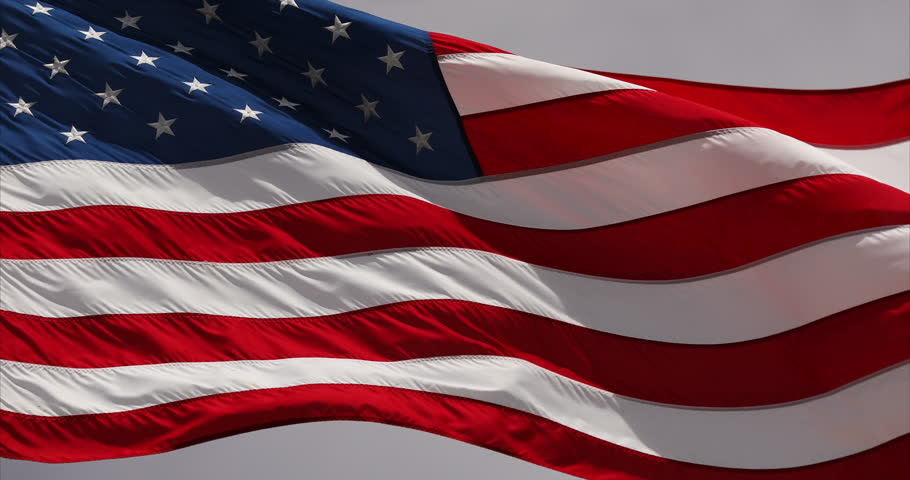 American flag blowing in the wind USA | Shutterstock HD Video #28633267