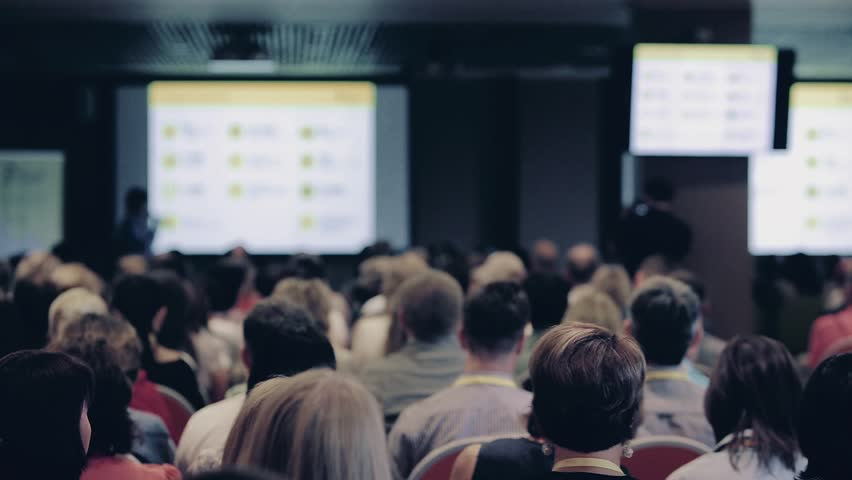 Speaker giving a talk on corporate Business Conference. Audience at the conference hall. Business event. | Shutterstock HD Video #28637077