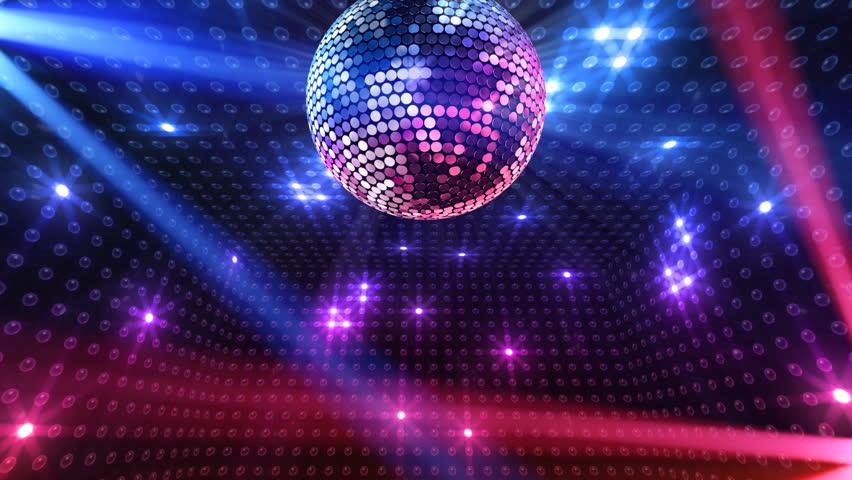Disco Mirror Ball Lights Stock Footage Video 100