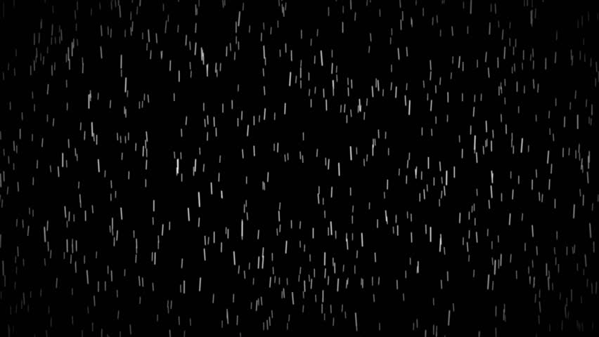 4K Rain, Isolated on black background - Seamless Looping