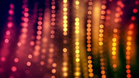 4K Motion Loop - Animated light shining dots. Bright deep red and yellow colors. Dotted pattern movement.