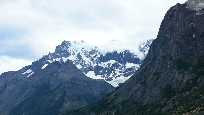 A view of the Cuernos Del Paine in the Torres Del Paine National Park