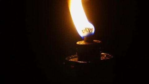 Kerosene Oil Lamps,Handheld Shooting Footage With Zoom Out Motion.