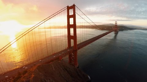 Aerial view of Golden Gate bridge San Fransisco