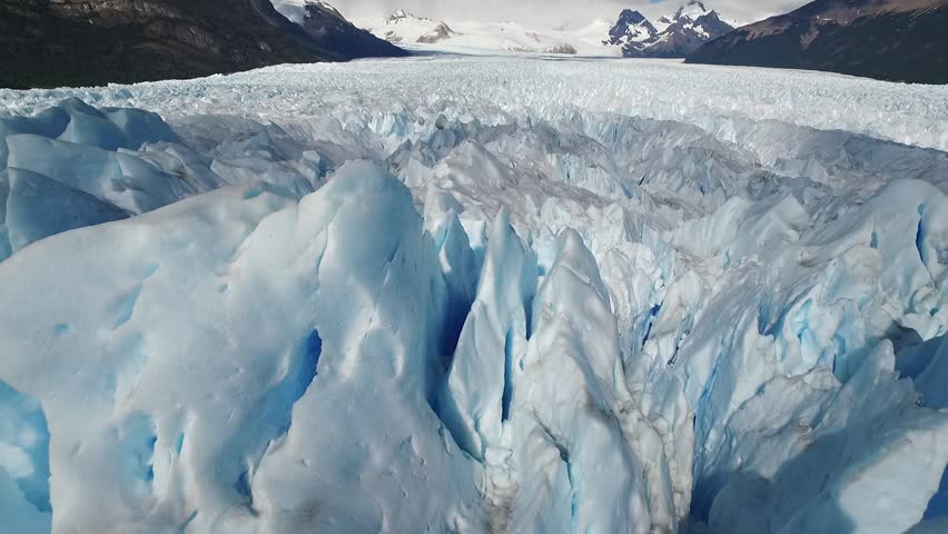 Perito Moreno glacier in National Park Glaciares, Argentina, from the sky (drone), aerial view