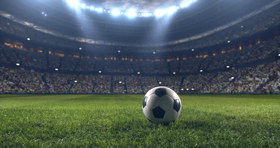 Soccer player performs outstanding play during a soccer game on a professional outdoor soccer stadium. Player wears unbranded uniform. Stadium and crowd are made in 3D. | Shutterstock HD Video #28910497