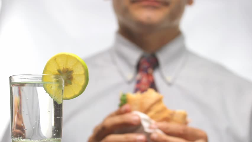 Out of focus businessman at lunch time | Shutterstock HD Video #2891137