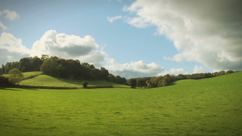 English Landscape, HD. An English countryside scene in the Surrey hills with