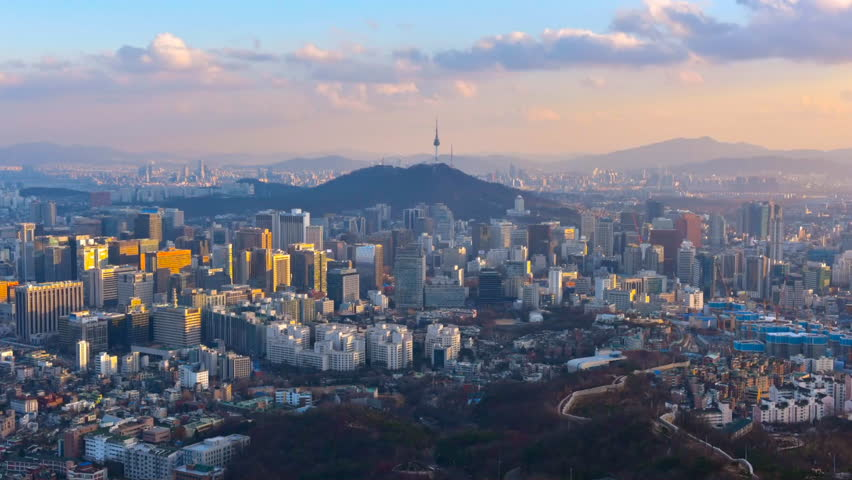 Time lapse of Seoul City Skyline, South Korea. | Shutterstock HD Video #29045887