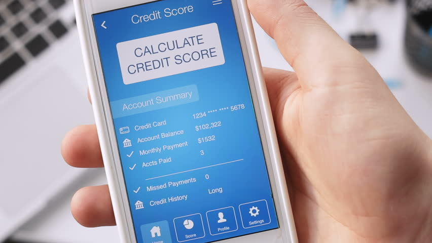 Checking credit score on smartphone using application. The result is GOOD | Shutterstock HD Video #29127727