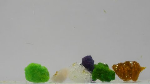Chloride magnesium chloride cobalt chloride manganese chloride ferric  nickel, copper under water