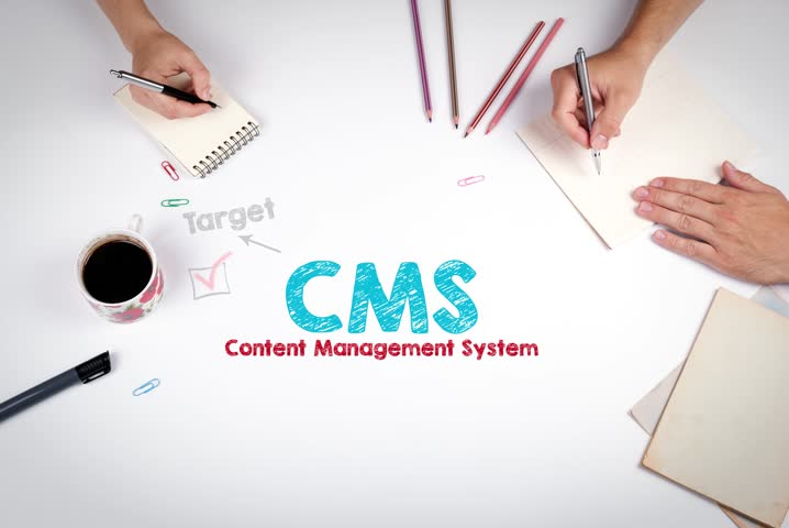 CMS Content Management Concept. The meeting at the white office table | Shutterstock HD Video #29168092