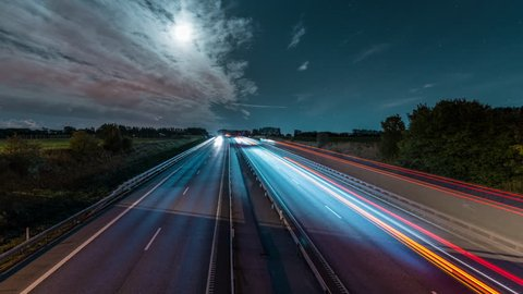 Time lapse of highway in Sweden