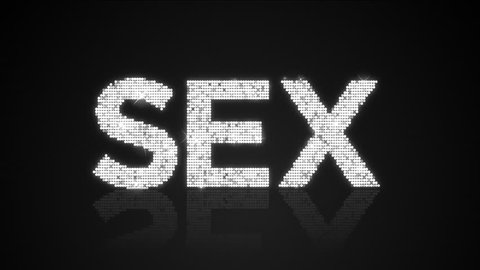 Glamorous SEX sign Looping Background