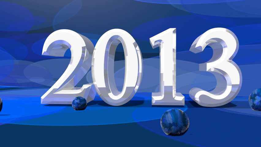 2013 year number on bokeh background