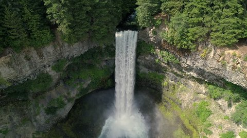 Super Slow Motion Waterfall Drone Shot in 4k at Brandywine Falls Canada