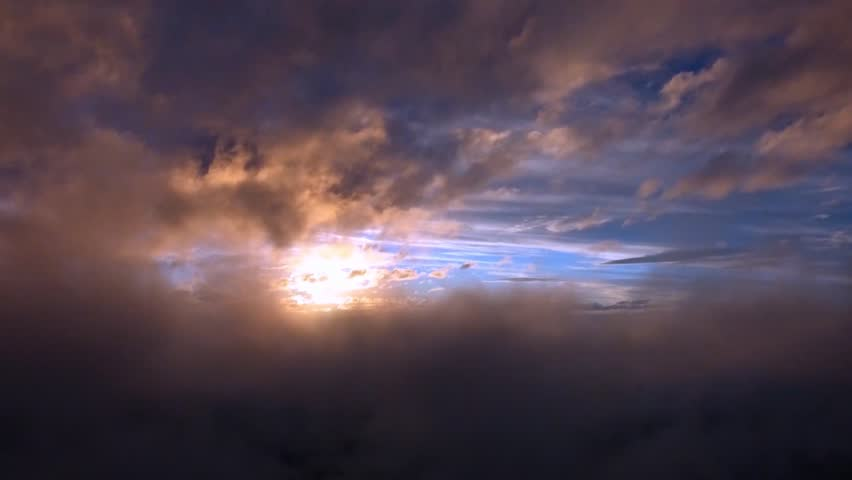 AERIAL VIEW RAINING CLOUDS AFTER STORM, 2 SLIDE ROLLING CLOUD, LEFT, RIGHT. Timelapse of passing clouds with overcast sky before rain drop in the evening. Clouds time lapse stock clip. | Shutterstock HD Video #29257852
