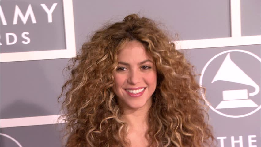 Los Angeles, CA - FEBRUARY 11, 2007: Shakira, walks the red carpet at the Grammy Awards 2007 held at the Staples Center