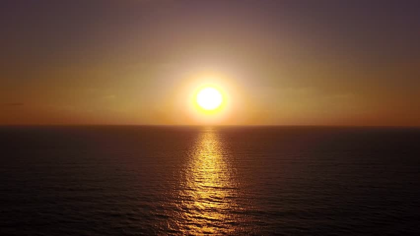 Sunset over the ocean - Aerial footage | Shutterstock HD Video #29358637