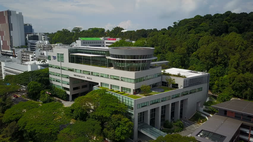 SINGAPORE - MAY 2017: Head office of the National University of Singapore aerial view