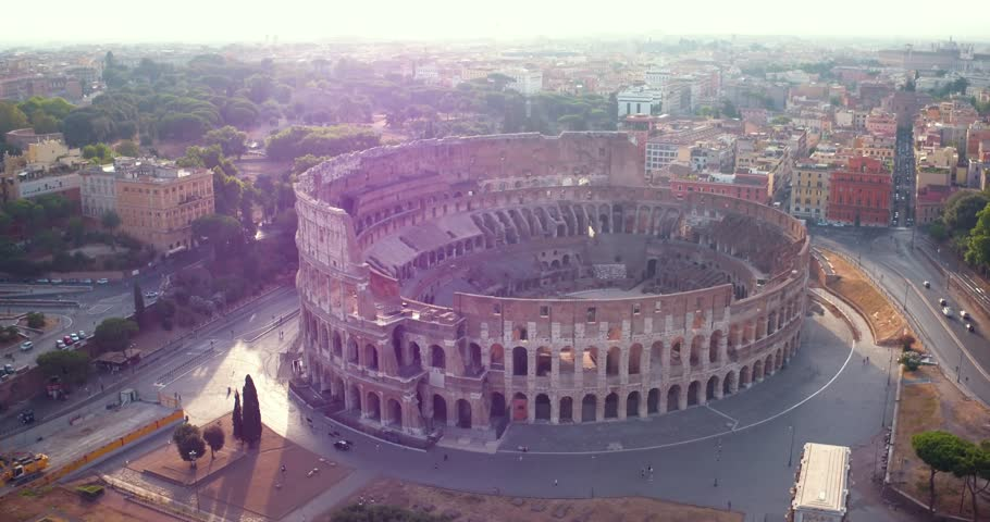 Colosseum in Rome - aerial view