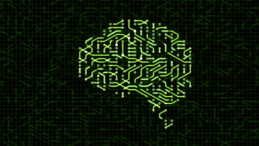 Seamless looping animation of a brain circuit board. 16-Bit. 4K UHD.  | Shutterstock HD Video #29492107