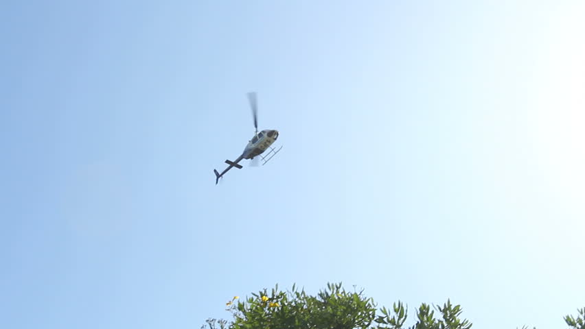police helicopter fly by