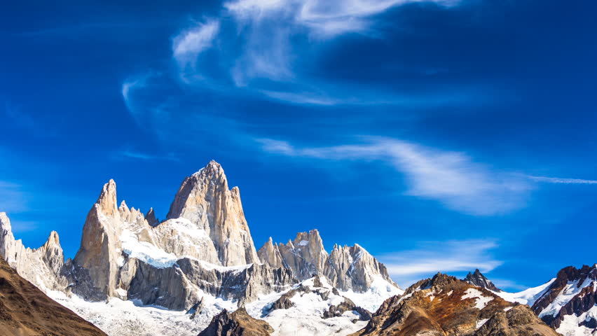 A epic time lapse of the Cerro Fitz Roy in Argentina