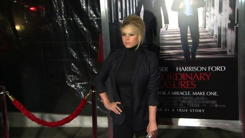 Hollywood, CA - JANUARY 19, 2010: Jessica Simpson walks the red carpet at the Extraordinary Measures Premiere held at the Grauman's Chinese Theatre