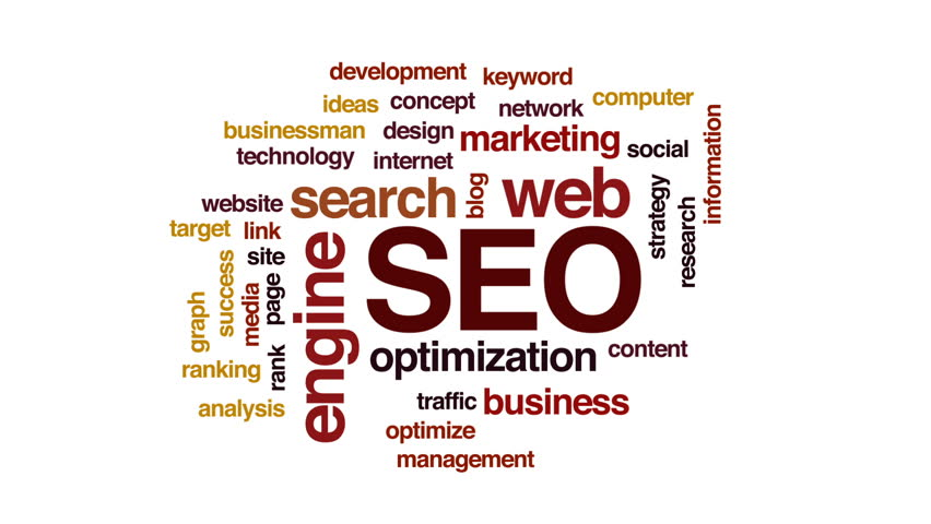 SEO animated word cloud, text design animation.   Shutterstock HD Video #29675887