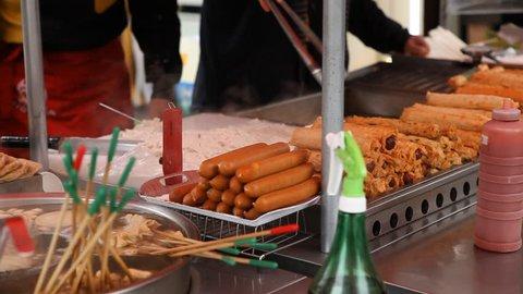 Seoul Market, Street Food, Traditional Asian Korean Food, Namdaemun Market
