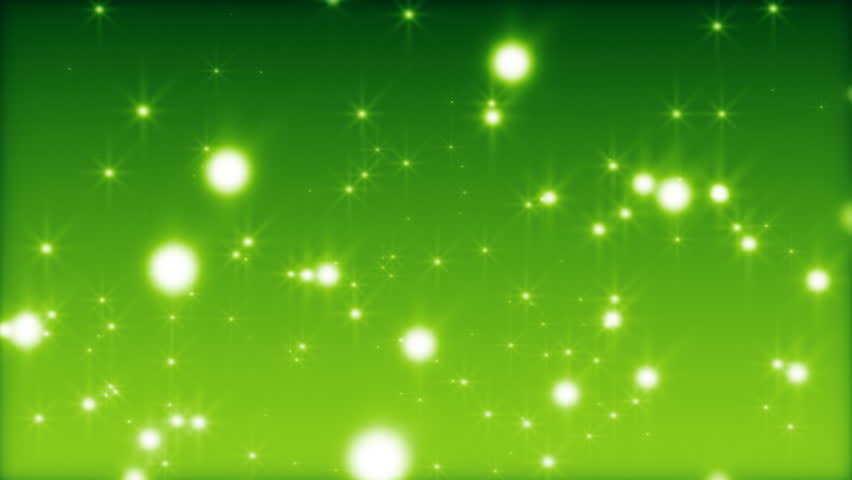 Green Light Effects Stock Footage Video: Glamour Green Background With Particles, Effects Of Light