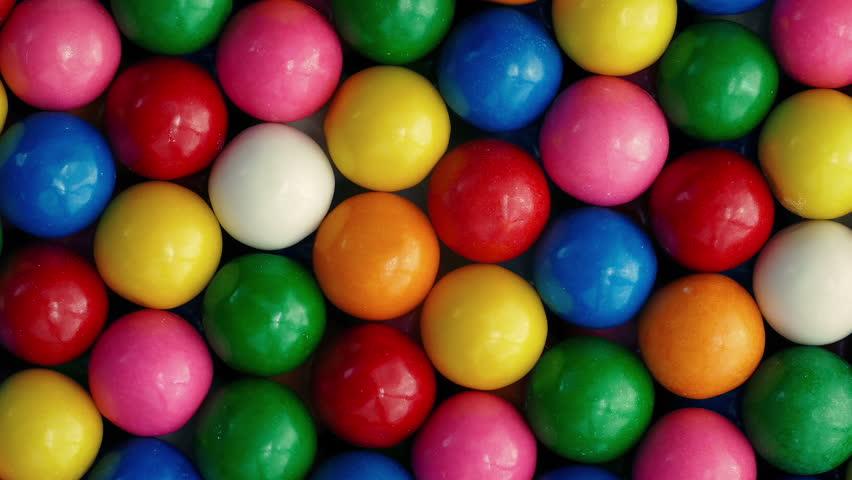 Bubblegum Balls Rotating Closeup