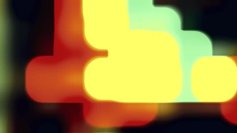 abstract soft blured color lights retro style animation background New quality universal motion dynamic animated smooth colorful red orange yellow blue green black violett joyful music video loop