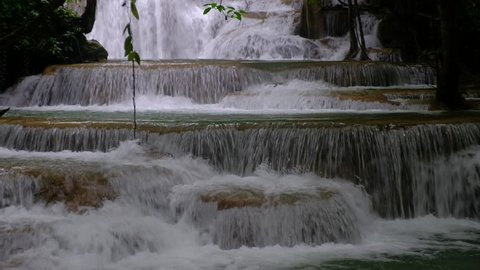 Huai Mae Khamin Waterfall is one of most beautiful waterfalls in Thailand