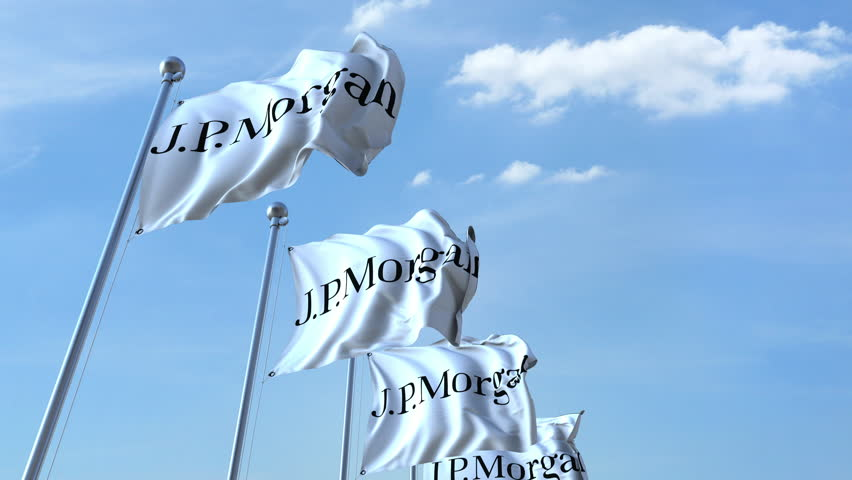Waving Flags with J p  Morgan Stock Footage Video (100% Royalty-free)  29937367 | Shutterstock