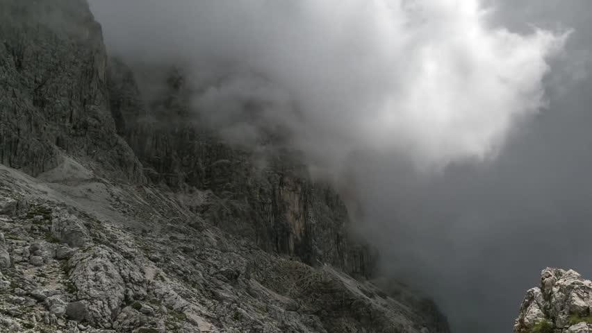 Dolomite time lapse - clouds on Passo delle Coronelle   Shutterstock HD Video #29944237