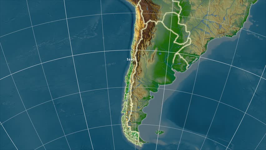 Guatemala Shape Animated On The Relief Map Of The Globe Stock - Physical map of guatemala cities