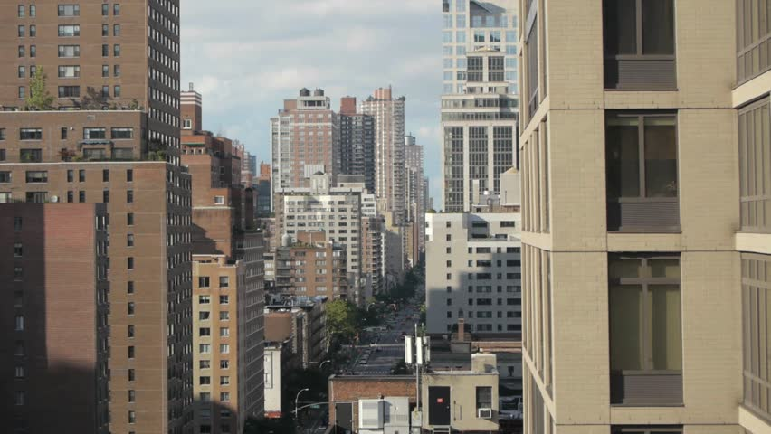 new york city skyline street manhattan areal view NYC