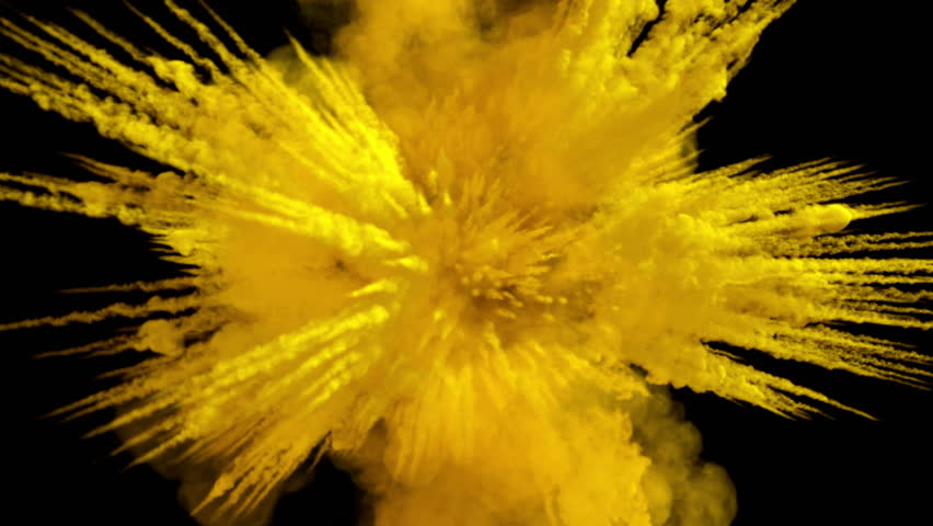 Colored middle size smoke explosion with trails, explodes on camera. Smoke density - low. Separated on pure black background, contains alpha channel. | Shutterstock HD Video #29998372