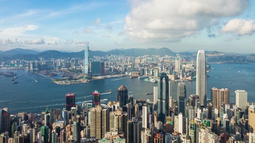 Timelapse of Hong Kong skyline | Shutterstock HD Video #30006259