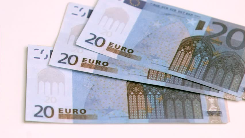 European banknotes being blown in super slow motion against white background | Shutterstock HD Video #3005917