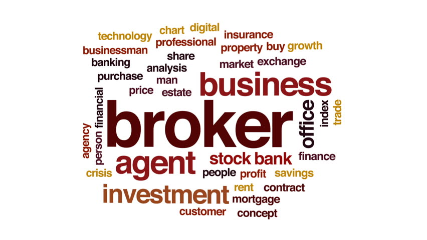 Broker animated word cloud, text design animation.   Shutterstock HD Video #30161587