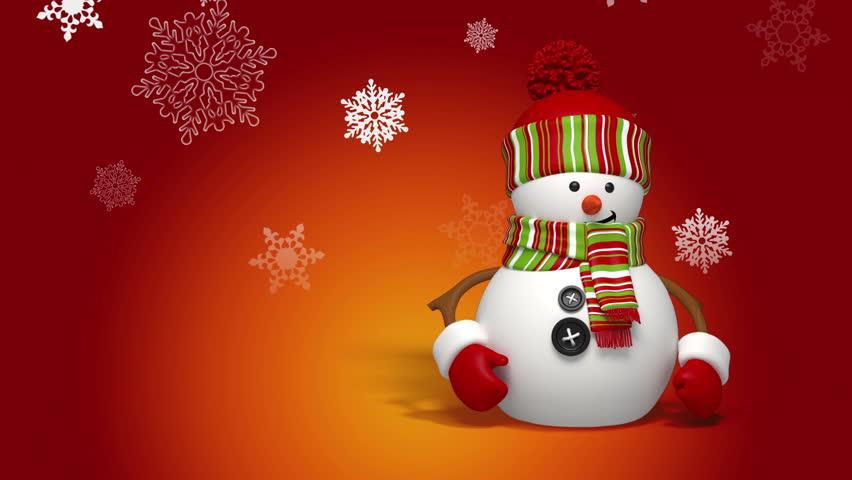 Snowman greeting   Shutterstock HD Video #3016945