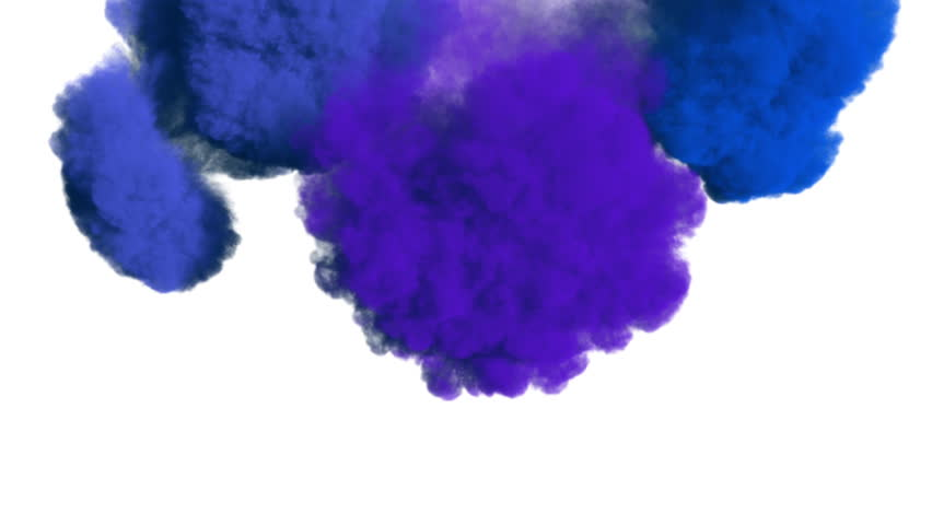 Colored ink spreading in water / colored smoke, overlapping frame from top to down. Good curtain-looking effect. Fluid/Smoke density - low. Separated on pure white background, contains alpha channel. | Shutterstock HD Video #30175417