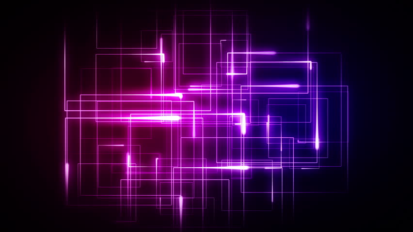 Blue And Pink Lines Forming Geometrical Shapes Against A Black Background Stock Footage Video 3024307